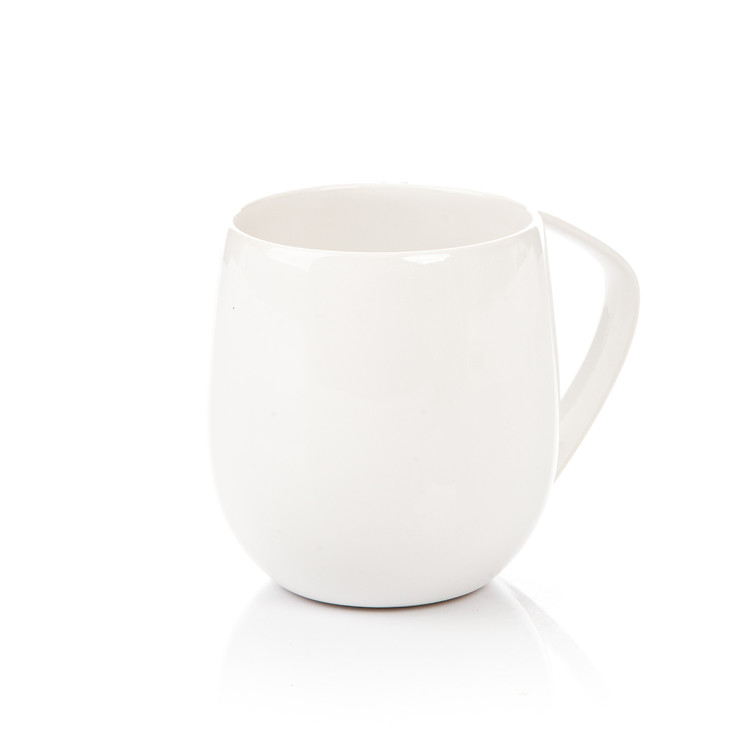 Mug Egg-Shaped White 300 ml Bolig dekoration