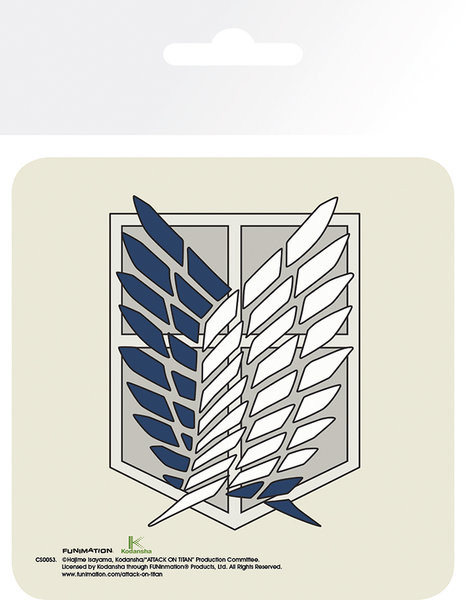 Attack On Titan (Shingeki no kyojin) - Badge Bordskåner