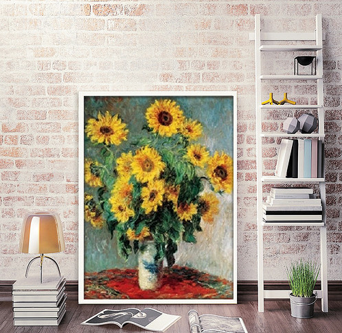 Bouquet of Sunflowers, 1880-81 Festmény reprodukció