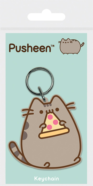 Pusheen - Pizza Breloc