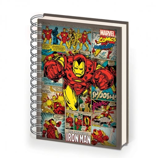 IRON MAN - notebook A5 Brevpapper
