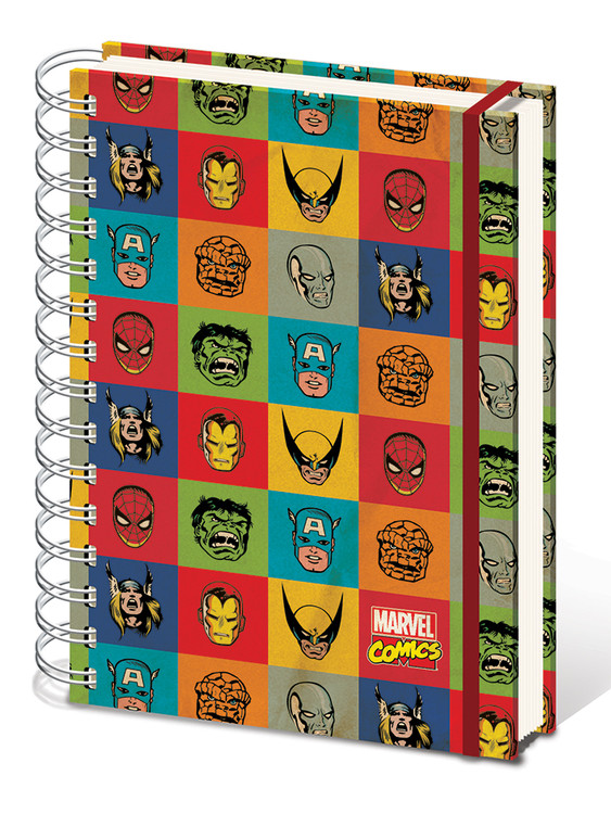 Marvel Retro - Faces A5 Notebook Brevpapper