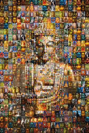 Buddha mosaic плакат