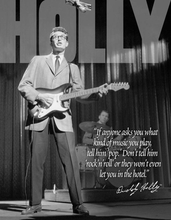 BUDDY HOLLY Metalen Wandplaat