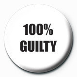 100 % GUILTY button
