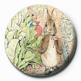 BEATRIX POTTER (BENJAMIN) button
