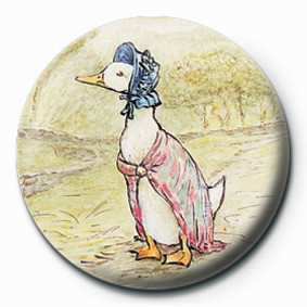 BEATRIX POTTER (JEMIMA) button