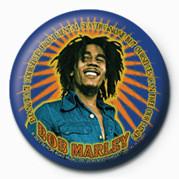 BOB MARLEY - blue button