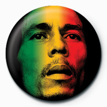 Bob Marley (Face) button