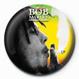 BOB MARLEY - smoking button