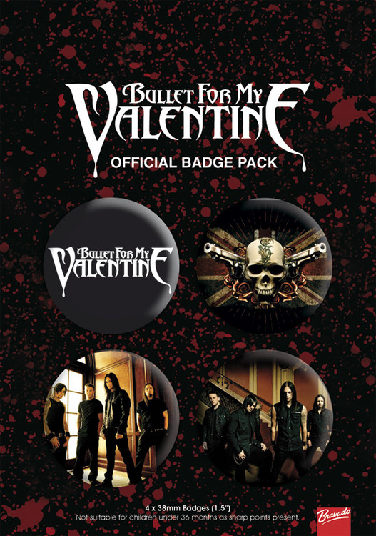 Button BULLET FOR MY VALENTINE 1