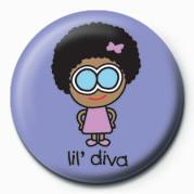 D&G (LIL' DIVA) button