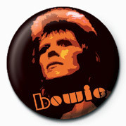 David Bowie (Orange) button