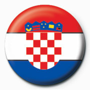 Flag - Croatia button