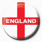 FLAG - England St. George' button