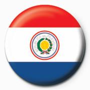Flag - Paraguay button