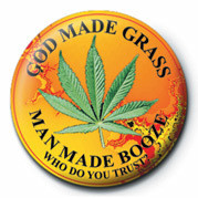 GOD MADE GRASS button