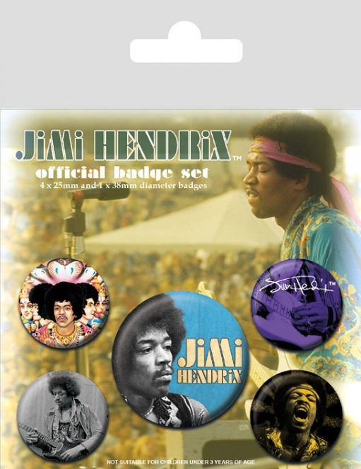 Jimi Hendrix button