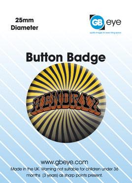 JIMI HENDRIX - logo button