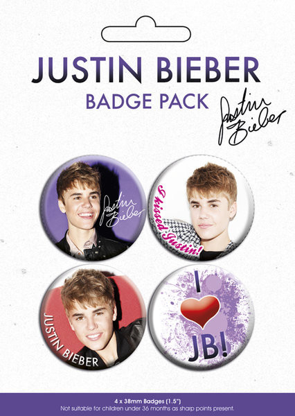 Button JUSTIN BIEBER - pack 3