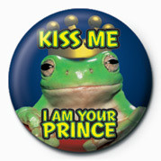 KISS ME, I AM YOUR PRINCE button