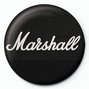 MARSHALL - black logo button