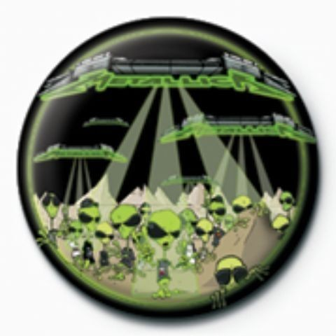 METALLICA - aliens  GB button