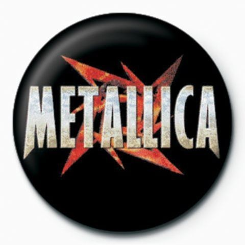 METALLICA - red star button