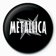 METALLICA - WHITE STAR button