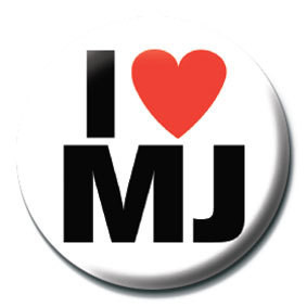 MICHAEL JACKSON - i love mj button