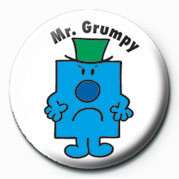MR MEN (Mr Grumpy) button