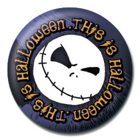NIGHTMARE BEFORE CHRISTMAS - This is halloween button