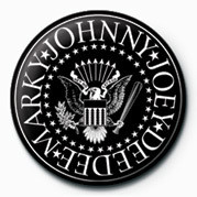 Ramones (B&W Logo) button