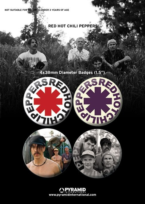 RED HOT CHILLI PEPPERS button
