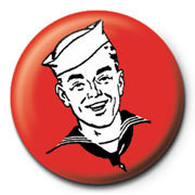 Red sailor button