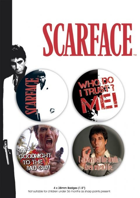 SCARFACE - pack 1 button