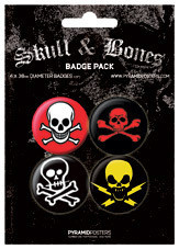 Button SKULL AND CROSSBONES