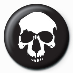 SKULL (BLACK) button