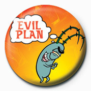 SPONGEBOB - malvado plan button