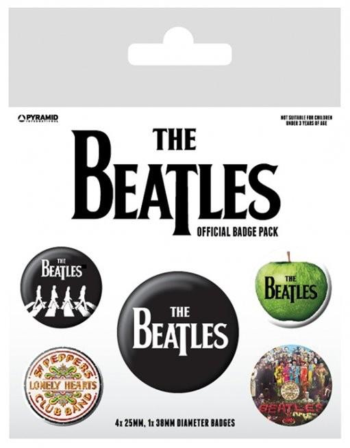Button  The Beatles - White