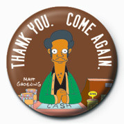 THE SIMPSONS - apu thank you  button