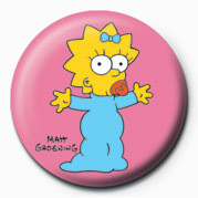 THE SIMPSONS - maggie button