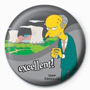 THE SIMPSONS - mr. burns excellent! button
