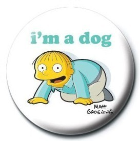 THE SIMPSONS - ralph i am a dog button