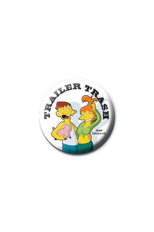 THE SIMPSONS - trailer trash button