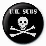 UK SUBS - SKULL  & CROSSBO button