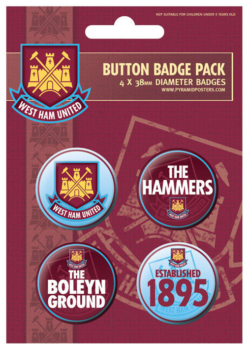 Button WEST HAM UNITED - The hammers