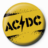 Button  AC/DC - Yellow stencil