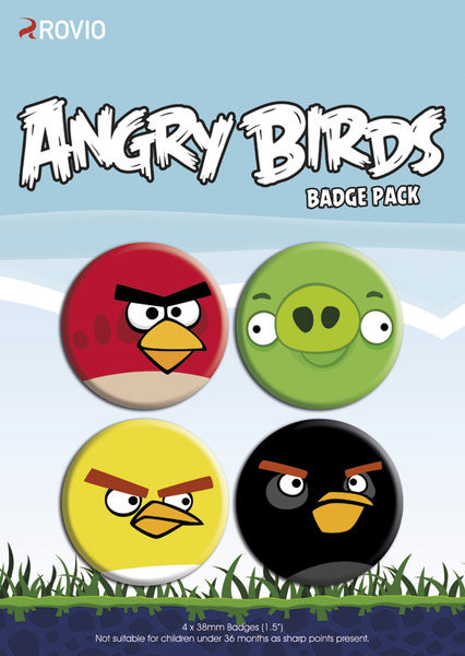 Button ANGRY BIRDS - faces