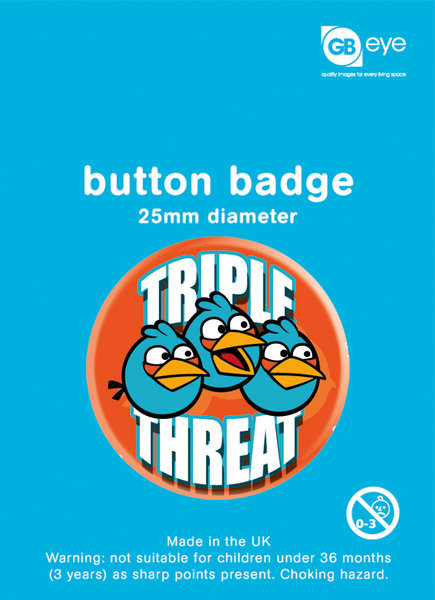 Button ANGRY BIRDS - Triple Threat
